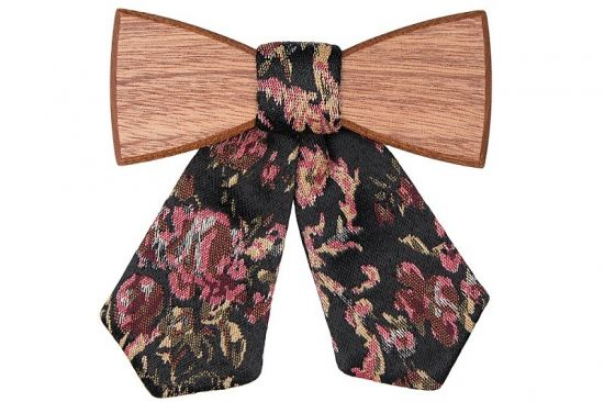 Wooden bow tie Rosis for Ladies