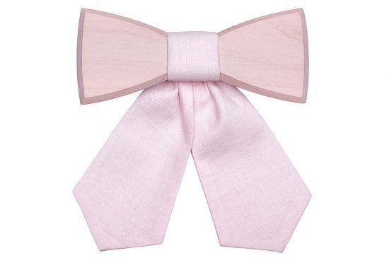 Simple Wooden bow tie Dea Rose
