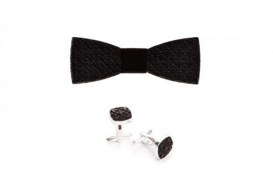 Wooden accessories sets, wooden bow ties with stylish wooden cufflinks