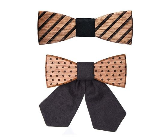 Wooden accessories sets, wooden bow ties