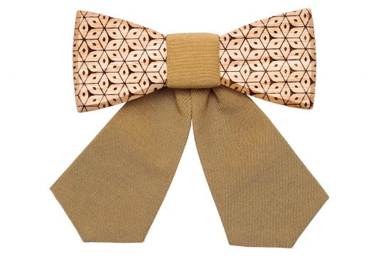 Stylish Wooden bow tie for women