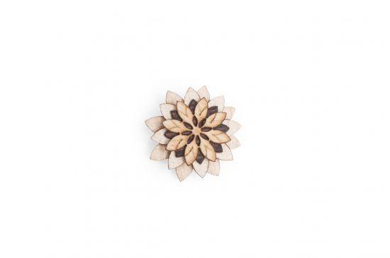 Lapel ornament Bellis Flower for men