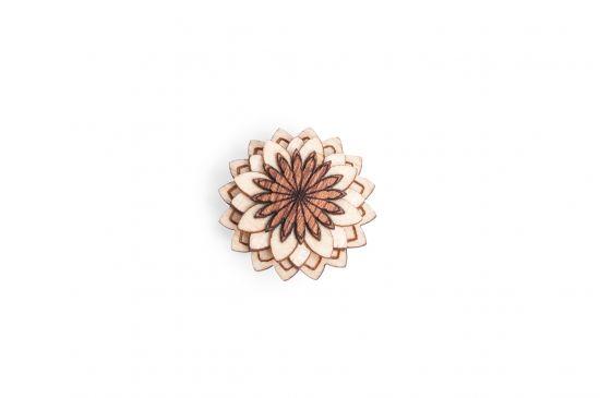 Lapel ornament Cubo Flower for men