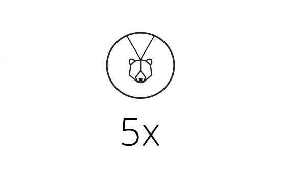 5x Pendant Set