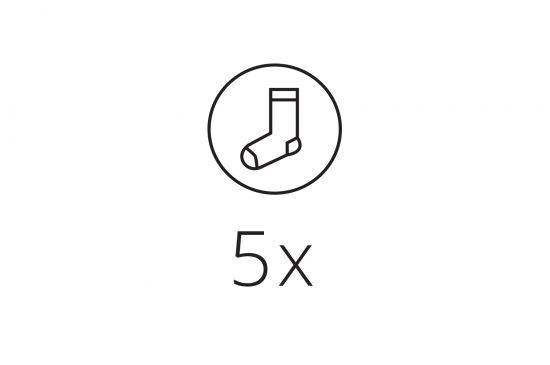 5x Socks