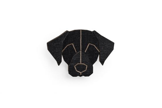 Black Labrador Brooch