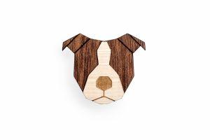 Staffordshire Bull Terrier Brooch