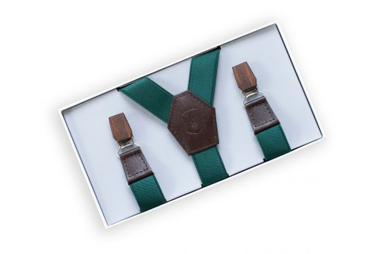 Forest Green Suspenders
