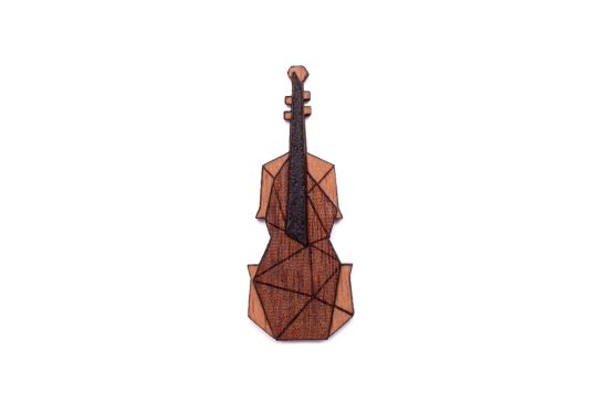 Hegedű bross