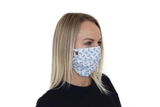 Stílusos BeWooden Paisley Mask arcmaszk pamutból