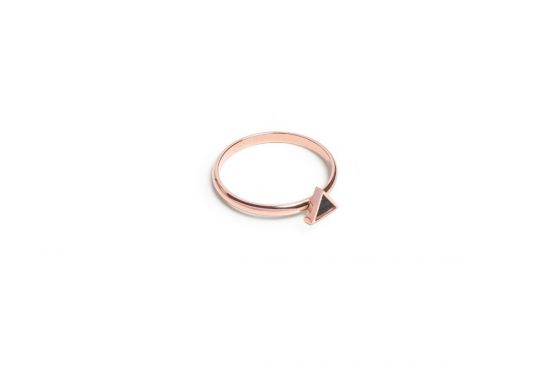 Rose Triangle Ring