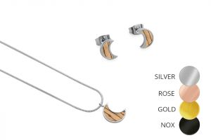 Halfmoon Earrings & Necklace
