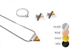 Triangle Earrings & Necklace & Ring