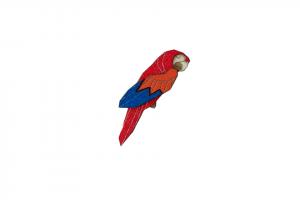 Ara Parrot Brooch