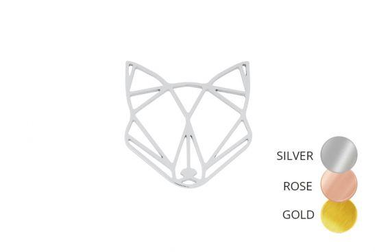 Fox Steel Brooch